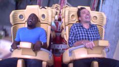 No one has ever been as scared as Jimmy Fallon and Kevin Hart on a roller coaster