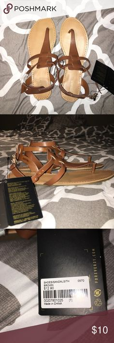 NWT Forever 21 Sandals Brown Sandals From Forever 21... NWT... Too Narrow For My Wide Foot Forever 21 Shoes Sandals
