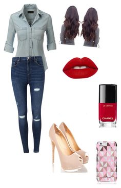 """""""Going out"""" by cottoncandy03 on Polyvore featuring LE3NO, Miss Selfridge, Kate Spade, Lime Crime and Chanel"""