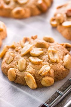 Peanut biscuits: Tasting like the original American - Rezepte: backen Kekse, . Berry Smoothie Recipe, Easy Smoothie Recipes, Easy Smoothies, Bolo Vegan, Vegan Cake, Cake Recipes, Snack Recipes, Dessert Recipes, Snacks