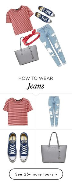 """""""t-shirt and jeans"""" by matisal06 on Polyvore featuring Topshop, WithChic, Charlotte Russe, Converse and stripedshirt"""