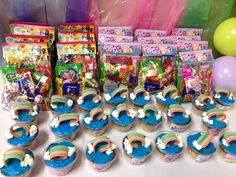 Cupcakes and favors at a My Little Pony Party #mylittlepony #partyfavors