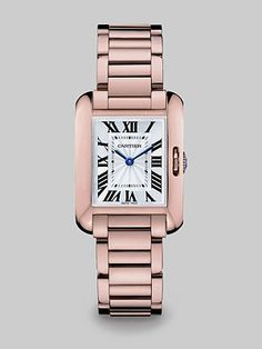 Cartier Tank Anglaise 18K Pink Gold Watch- I do have a bday coming up *wink* *wink*