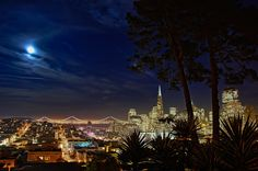 In San Francisco, you just have to walk around a bit and within a block or two you will undoubtedly run into an interesting little shop or surprisingly good restaurant.  This shot was taken from Russian Hill.  Taken by Steve Carver.