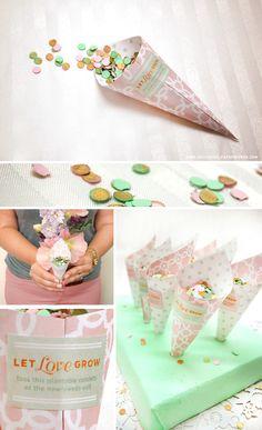 Les cornets a confettis sont très souvent utilisés (pour les confettis bien sur) a la sortie de l'église. Mais dorénavant, ils sont souvent utilisés comme cornets à pétales de roses, ou bien …