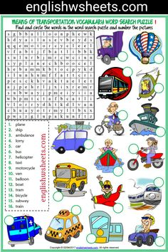 Means of Transportation Esl Printable Word Search Puzzle Worksheets For Kids (2 sets) #means #transportation #transports #transportsesl #transportationesl #meansoftransportation #eslforkids #eslworksheets #eslpuzzles #esl #printable #wordsearch #puzzle #Worksheet #kids #forkids #languagearts #englishwsheets #learnenglish #teachenglish #classroom #efl #esol #tesol #tefl #tesol #eal