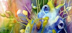 Reef fish! Watercolors from Marni Maree.