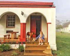 The Post office at Stormsvlei Riverside Cottages. Old post office conversion. Holiday accommodation. Red house. South Africa. Western Cape.