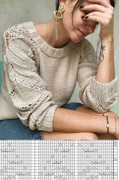 Hand Knitted Sweaters, Mohair Sweater, Knitted Shawls, Lace Knitting Stitches, Sweater Knitting Patterns, Crochet Blouse, Crochet Yarn, Knitwear Fashion, Knitting Accessories