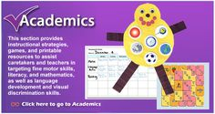 This site has everything for regular and special ed. Academics, behavior, games, lessons, printables, schedule maker, etc.