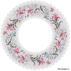 Round floral frames for decoupage 2. - 21 (700x700, 280Kb)