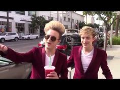 WOW OH WOW! Irish singing twins Jedward, and the NEW hair, are spotted in Beverly Hills! | TMI.BUZZ