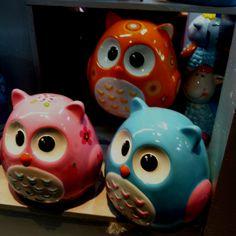 Big eye bank owls