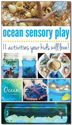 11 ocean sensory play ideas for kids is part of Kids Crafts Ocean Sensory Bottles - 11 ocean sensory play activities your kids will love! From sensory bottles to sensory bins and more! Sensory Bottles, Sensory Bins, Sensory Play, Sensory Boards, Sensory Therapy, Ocean Activities, Preschool Activities, Vocabulary Activities, Summer Activities
