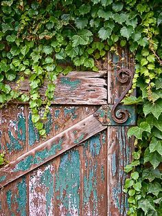 bellasecretgarden: Garden door (via Pinterest: Discover and save creative ideas)