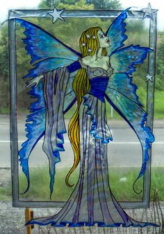 WICOART WINDOW COLOR STICKER STATIC CLING STAINED GLASS FÉE DES ETOILES FAIRY