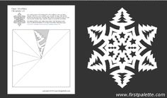 Paper snowflake template 11