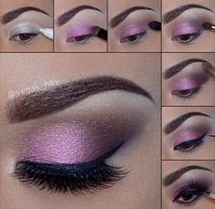 Beautiful eye make up.especially for brown eyes,i Beautiful eye make up.especially for brown eyes,i think. Beautiful eye make up.especially for brown eyes,i think. Eye Makeup Diy, Smokey Eye Makeup Look, Pink Smokey Eye, Purple Eye Makeup, Eyeshadow Makeup, Makeup Tips, Makeup Looks, Makeup Ideas, Makeup Tutorials