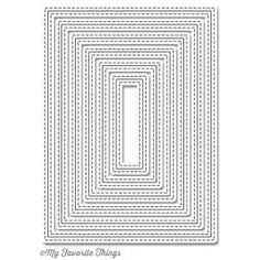 Die-namics Inside & Out Stitched Rectangle MFT-847
