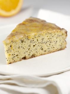 Gluten Free, Sugar Free Orange Poppyseed Cake. Eee! I bought poppyseeds before cutting out gluten and sugar and this is perfect!