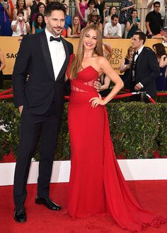 Sofia Vergara and Joe Manganiello at SAG Awards 2015....