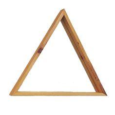 La forme géométrique naturelle bois et moderne de ce miroir triangle sintègre parfaitement avec nimporte quel décor. Les noeuds, a vu des