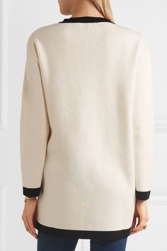 Boutique Moschino - Bow-embellished Wool And Cotton-blend Jacket - White - IT44