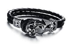 Bracelet Men Casual 2017 Creative Devil Skull -free shipping
