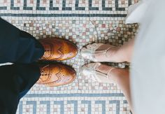 Wedding shoes. His 'n Hers.
