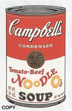 Andy Warhol, Tomato-Beef Noodle O's, II.61
