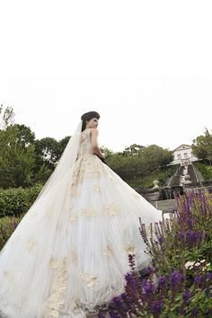 Gold-Embellished Ball Gown by Ines Di Santo   Photography: Carasco Photography. Read More:  http://www.insideweddings.com/weddings/styled-shoot-combines-old-world-charm-and-contemporary-fashion/849/