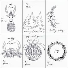 Christmas gift tags to color instant download holiday coloring fun free printable christmas tags that you can color negle Images
