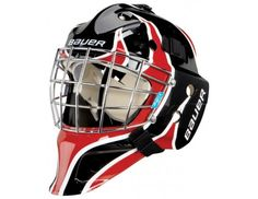 6baec936af2 Bauer NME 3 Goal Mask - Black  Red  White Youth- www.jerryshockey.com