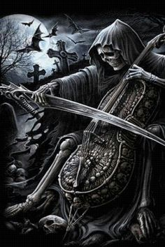 grim reaper wallpaper hd, ALSO. This would've been even better if Death were playing the worlds smallest violin, you know, for the drama of life. Fantasy Kunst, Dark Fantasy Art, Dark Art, Grim Reaper Art, Don't Fear The Reaper, Reaper Tattoo, Totenkopf Tattoos, Arte Obscura, Skull Artwork