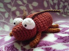 An amigurumi of an adorable cockroach Birthday Gift For Him, Best Birthday Gifts, Crochet Toys, Free Crochet, Roaches, Puppets, Gifts For Him, Ladybug, Free Pattern