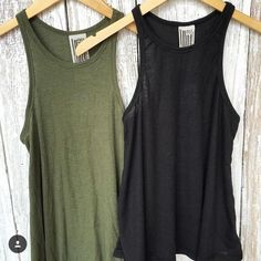 Free People Tank Free People basic tank in army green. Worn once, like new. Free People Tops Tank Tops