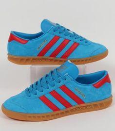 Adidas- Hamburg Solar Blue/Red