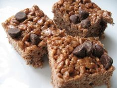 Weight Watchers Low-Fat Chocolate Crunch Bars (2pts); I'd replace the reduced fat peanutbutter with regular (reduced fat has more sugar!), and the reduced fat chocolate morsels with dark chocolate.