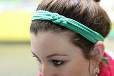 T-Shirt Upcycle- Sailor Knot Headband