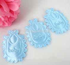 Free Shipping 180pcs Baby Shower Favor Blue Boy Satin Applique/trim/Shower…