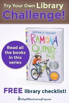 Challenge your child to read all the books in the Ramona chapter book series! Beverly Cleary, Free Library, Reading Challenge, Chapter Books, Book Series, Children, Kids, Literature, How To Memorize Things