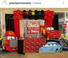 Pixar Cars Birthday Party Idea's