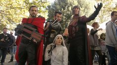 Marvel X-Men - Days of future past - Group (Rogue, Wolverine, Magneto, Bishop) Rogue Cosplay, Days Of Future Past, Men's Day, Marvel X, Wolverine, Rogues, X Men, Comic Books, Comics