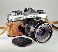 Fujica ST605 / 35mm Film SLR / Brown Skin / LightBurn Restored Camera / Hanimar 35mm f2.8 Lens / £46.99 / Fujifilm