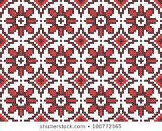 seamless embroidered good like handmade cross-stitch ethnic Ukraine pattern Cross Stitch Embroidery, Embroidery Patterns, Cross Stitch Patterns, National Symbols, Fair Isle Knitting, Needlepoint, Bohemian Rug, Ornaments, Handmade