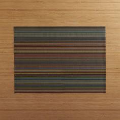 Chilewich ® Chroma Dark Stripe Vinyl Placemat | Crate and Barrel