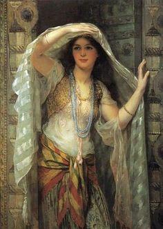 Safie, One of the Three Ladies of Bagdad 1900, via Flickr.