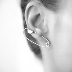 955d6722d Folded Ear Pin, Sold Individually, silver ear climber, ear pin,  contemporary earrings, unique earring, statement earrings