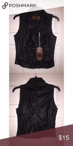 Faux leather vest Brand new vest👍🏻 T.J.Maxx Jackets & Coats Vests