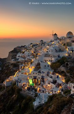 Sunset At Oia Santorini by Haris Vithoulkas on 500px